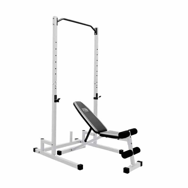 weight bench set with squat rack
