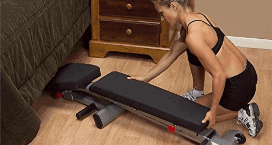 easy to store compact weight bench